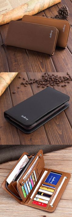 US$13.75+Free shipping. Phone Bag, Men's Bag, Wallet Bag, Business Wallet. 13 Card Slots, Large Capacity, Material:PU Leather. Color:Black, Khaki,Dark Coffee.