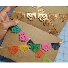 Papel Picado Banners. www.teeliesfairygarden.com . . . These picado banners will definitely add a cheerful vibe to your fairy parties! Plus, it will attract more fairies to join the fun! #fairybanner