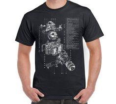 Camera Anatomy T Shirt Camera Digital Camera by FreakyTshirtShop