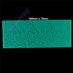 big Charming design instant fondant silicone lace mold cake mold baking tools cake decorating tools 18X7CM 2323
