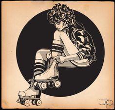 Roller skates and tube socks <3