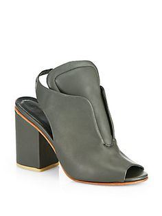 """Looks smart and soft enough to wear all day without needing to break in. Love the soft detailing and suble charm.   A Detacher Billie Jean Leather Slingback Ankle Boots  Chic leather ankle boots on a chunky self-covered heel have a feminine peep toe and modern slingback styling with comfy stretch insert.  Covered heel, 3.25"""" (80mm) Shaft, 2.25"""" Leg circumference, 10"""" Leather upper Padded tongue Leather lining and sole Padded insole Imported"""