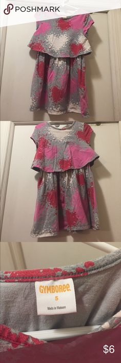 Girls Gymboree grey heart dress size 5 Toddler girls Gymboree tiered dress with heart pattern. Size 5. Gymboree Dresses Casual