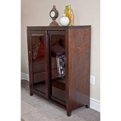 Essex Coffee Brown Medium Storage Media Cabinet & Buffet | Overstock.com