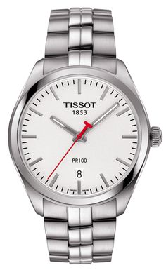 Tissot PR 100 Quartz NBA  This Timepiece is a part of the Tissot NBA collection. As the official timekeeper of the NBA, Tissot presents this PR 100 watch with the NBA logo on the case-back. True to its name, the Tissot PR 100 is Precise and Robust and a hugely popular family within the Tissot range. These new pieces have been launched to give a more modern look in keeping with the time yet still combining traditional watch design using quality materials and the Swiss reliability of the…