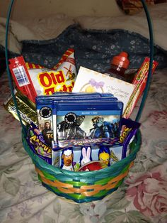 Easter basket i made for my boyfriend full of his favorite candies this is the basket i put together for my boyfriend on easter things like beef negle Image collections