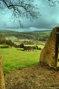Words can not express how much I would love to be there!  So beautiful! Hillside Bench, Cilgwyn, Wales