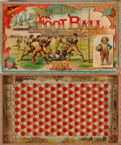 """The Yale-Princeton Foot Ball Game"", game board, Created during America's Gilded Age by: McLoughlin Brothers, N. ~ {cwl} ~ (The Collection of David Galt, New York. Cards Against Humanity Online, Vintage Board Games, Soccer Games, Gilded Age, Lets Play, Table Games, Game Boards, Card Games, Folk Art"