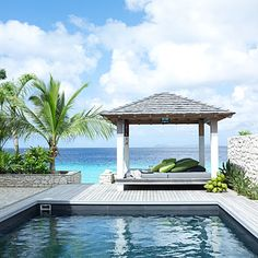 Bonaire, Caribbean, Pool-side Gazebo - simple design... just add the grill under and you're done!