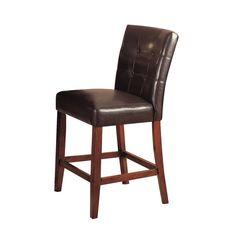 Bologna Espresso Counter Height Chair (Set of 2)