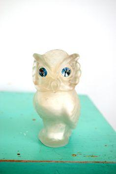 Avon owl perfume bottle