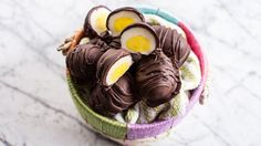 We're sweet on this homemade Easter candy recipe. All it takes are a few pantry staples and a bit of patience. Chocolate Drip, Chocolate Cream, Dark Chocolate Chips, Melting Chocolate, Chocolate Desserts, Chocolate Covered, Easter Candy, Easter Treats, Easter Food