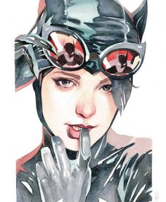 "Gotham City Sirens Portrait Art Series - ""The Encounters"" Catwoman by Garrie Gastonny and Elfandiary Catwoman Cosplay, Batman Et Catwoman, Cosplay Gatúbela, Joker, Comic Book Characters, Comic Character, Comic Books Art, Comic Art, Bd Comics"