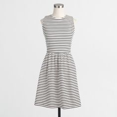 Petite striped daybreak dress