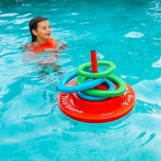 Fun for all ages, our ring toss pool game is easy to assemble. This game is constructed of vynl coated foam and PVC.Get family and friends involved in playtime Swimming Pool Games, Swimming Pool House, Pool Fun, Swimming Gear, Ring Toss, Outdoor Pool, Indoor Outdoor, Pool Backyard, Patio