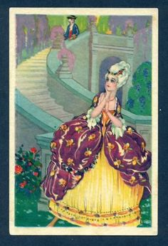 Rococo Woman in lovely  Ball Gown