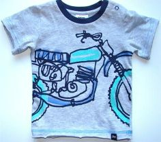 Designer baby boy clothing - Milky - Outline Bike Tee    Price: $17.95     Super cute short sleeve outline motorbike tee by Milky - features graphic print on front. Designer baby boy clothing - Milky