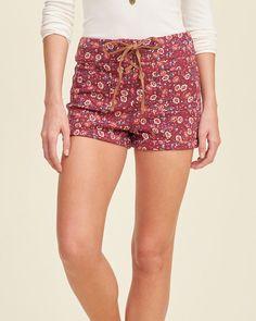 Knit tap shorts