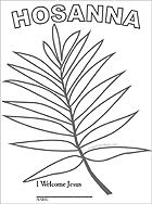 Sunday School Kids - Palm Branch coloring page
