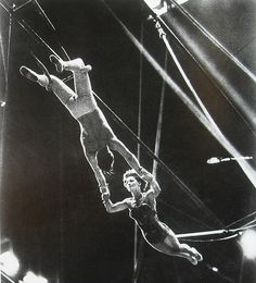 1930s Antoinette Concello CIRCUS WOMAN Perofrmer Acrobat Flying Trapeze with Man Partner