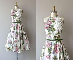 Lilli Ann floral dress • vintage 1950s dress • floral print 50s dress