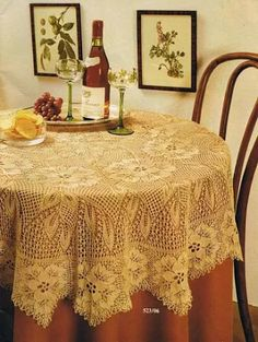View album on Yandex. Thread Crochet, Knit Or Crochet, Lace Knitting, Knitting Stitches, Crochet Designs, Knitting Designs, Tricot D'art, Mantel Redondo, Crochet Dollies