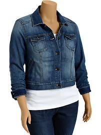 Women's Plus Cropped Denim Jackets