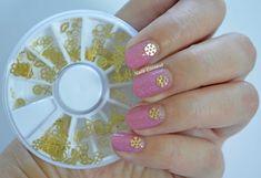3d #snowflakes nails using #beautybigbangs 3d stickers   Nail art by @nailscontext