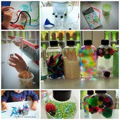 Basteln mit Kindern, Sensorik Flaschen / Sensory Bottles