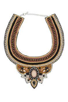 Multicoloured Beaded Bib Necklace