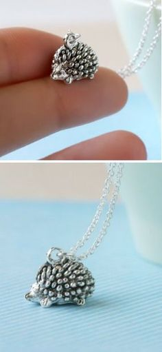 Tiny Hedgehog Necklace ♥ cUte!