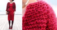 Winter Bolero - Pickles FEE EASY PATTERN in M other sizes available to purchase