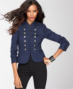 INC International Concepts Petite Jacket, Miltary Embellished Blazer - Womens Petite Jackets & Blazers - Macy's
