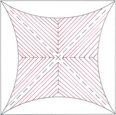 The Ultimate Shape center was filled with repetitive lines for a striking quilting design.  This would be beautiful with free form feathers added to the outside arches.