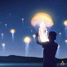 Jellyfish Lanterns Festival - Art Available on Redbubble and Society6