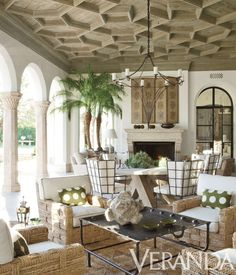 Spanish and Moroccan design inspired this exotic and modern open-air space.