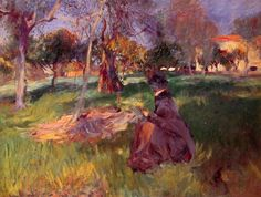 In the Orchard John Singer Sargent · 1886