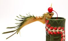 Cocktail Garnishes: Fire Bird