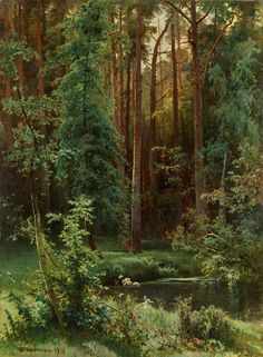 Иван Шишкин - Лесной пейзаж