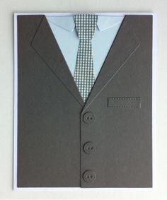 Card for men masculine male jacket shirt tie, MFT Suit and Tie Die-namics #mftstamps - kort mænd herre - Karte Männer - JKE