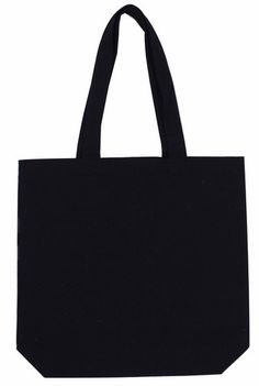 Heavy Cotton   Canvas Tote Black With Bottom Only Can-Tt-Bk-Btm 877977265fc4