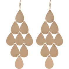 Irene Neuwirth Jewelry Nine-drop Chandelier Earrings (€2.345) ❤ liked on Polyvore featuring jewelry, earrings, accessories, brincos, chandelier jewelry, red gold jewelry, pink gold earrings, hook earrings and 18 karat gold earrings