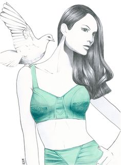 ..Hélène Cayre Aqua, David Downton, Illustration Artists, Drawing S, Fashion Art, Addiction, Sketches, Portraits, Hair