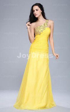 Diamond Sheath One Shoulder Floor-length Dress