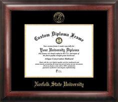 Norfolk State Gold Embossed Diploma Frame