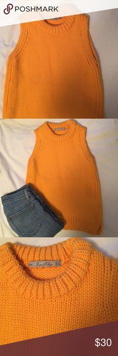 Mustard Yellow Zara Knit Tank Adorable never worn Zara knit top in mustard… Knitting Designs, Knitting Projects, Knitting Basics, Mustard Yellow, Knits, Cowl, Zara, Beanie, Turtle Neck