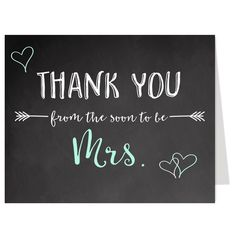 soon to be mrs mint thank you card bridal shower