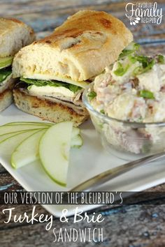 "Turkey and Brie Sandwich - BEST. SANDWICH. EVER. Turkey, Brie, Fig, Apples and Dijon combine to make this sandwich irresistable. Even your picky sandwich ""traditionalists"" will be begging you to make these!"