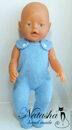 Купить Комплект для BABY born - голубой, одежда для кукол, одежка для кукол, подарок девочке Barbie Knitting Patterns, Knitted Doll Patterns, Knitting Dolls Clothes, Knitted Dolls, Doll Clothes Patterns, Clothing Patterns, Baby Doll Crib, Baby Dolls, Best Baby Doll
