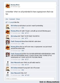kekeke now this is just epic~ why can't i see exo chat like this~ kekeke~ >.< RLAB~~